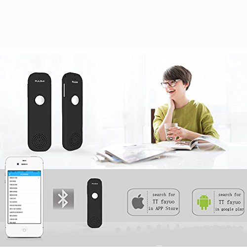 Pulomi Easy Trans Smart Language Translator Device Electronic Pocket Voice Bluetooth 52 Languages for Learning Travel Shopping Business Fit for Apple iPhone Android Black Photo #5