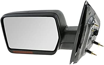2004 2005 2006 Ford F-Series F150 Pickup Truck Power Heated Manual Folding with Turn Signal Light without Puddle Lamp Black Textured Rear View Mirror Left Driver Side (04 05 06)