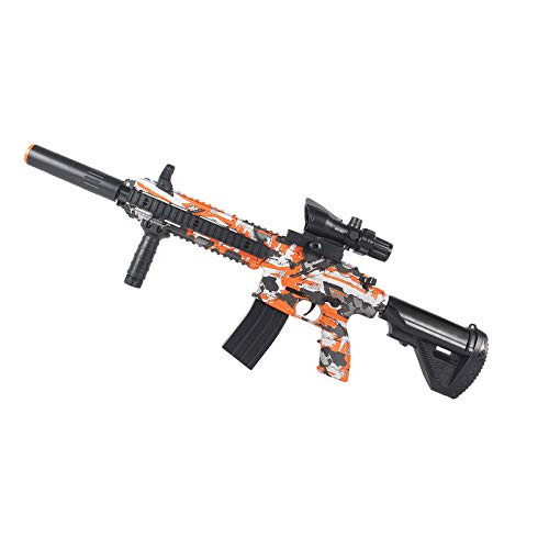 Anstoy Electric with Gel Ball Blaster AEG for Outdoor Activities-Fighting Shooting Team Game (Orange)