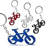 Lote de 50 Llaveros Aluminio BICICLETA - Llaveros de Aluminio de colores en Forma de Bicicleta - Llaveros para Carreras...