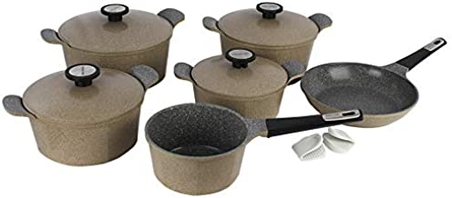 Neoflam a Set of Granite Containers Granite Pot Sets , Brown - 3000001156857