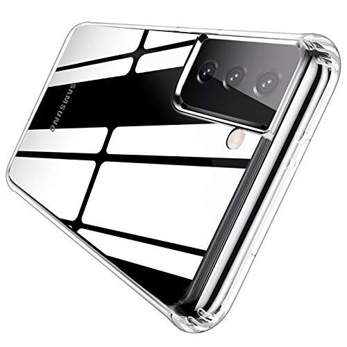 QITAYO per Custodia Samsung Galaxy S21 Plus, Trasparente Silicone Morbido, Antiurto AntiGraffio Protettiva Cover Case Custodia per Samsung Galaxy S21 Plus -Trasparente