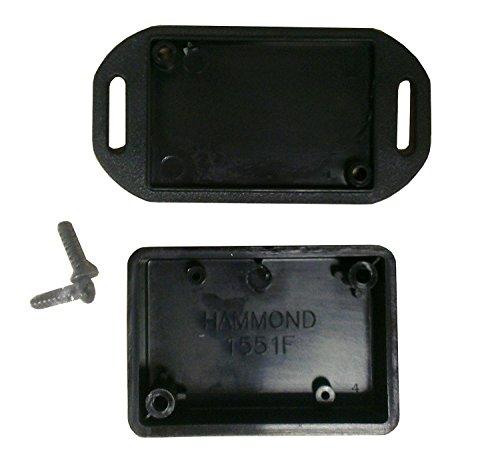 Hammond 1551 fflbk en plastique ABS noir couvercle à embase projet Boîte pouces (5 x 3,5 x 1,5 cm) mm (50 mm x 35 mm x 15 mm)