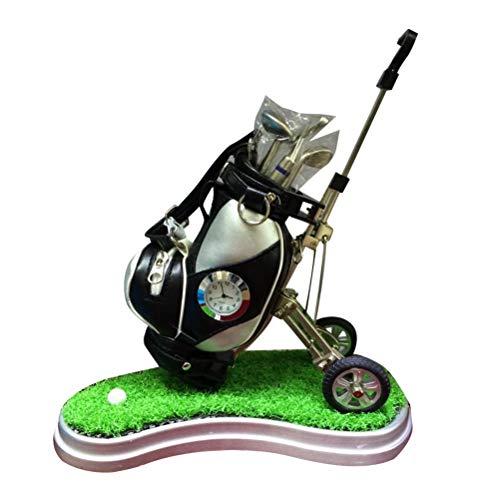 TOYANDONA Porte Crayons Sac de Golf avec Horloge Chariot Créative pour Cadeau Maison Salon Decor Gift (Couleur Aléatoire)