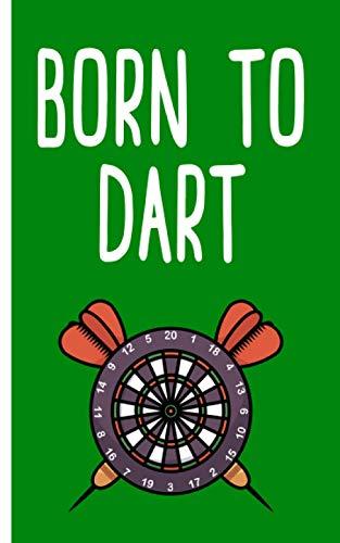 Born to dart - Cuaderno: Planificador | Diario | Bloc de notas | Copybook | Cuaderno con motivo de dardos | cuadros | Tamaño 5 'x 8' | más de 100 páginas |para anotar deseos y notas