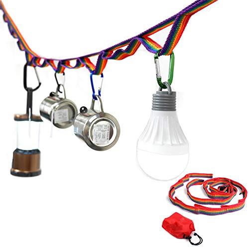 CZ-XING - Cordón de cuerda para colgar carpas de campaña, para decoración de tienda de campaña, con correa de almacenamiento de cuerda larga, para picnic, barbacoa, accesorios tienda,cinturón colgar