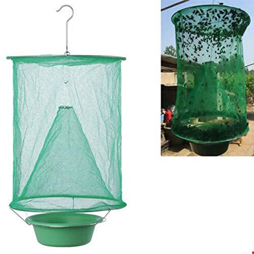URMAGIC Fly Trap Folding Hanging Fly Cage Mesh Net, High-Efficiency Insect Catching,Folding Mosquito Capture Tools Outdoor Catching Fly Mesh Net Insect Bug Garden Hanging Trap Catcher for Garden