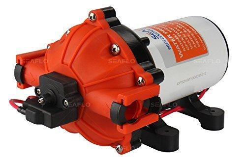 Seaflo 52-series presión de agua bomba de diafragma–12V, 5,0GPM, 60PSI