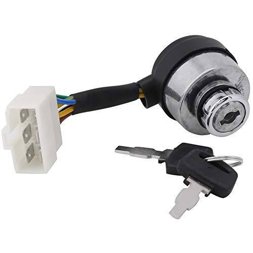Interruptor de llave de encendido, interruptor de arranque de llave de 6 cables, accesorios para generador de gasolina, reemplazar por generador de gas 2.5-6.5KW 188F