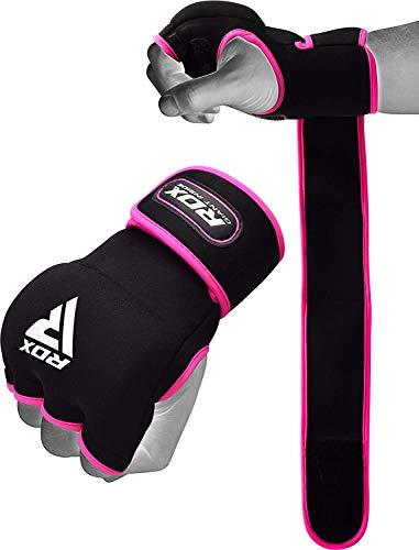 RDX Innenhandschuhe Damen MMA Boxbandagen Boxen Elastisch Handschuhe Daumenschlaufe Frauen (MEHRWEG)
