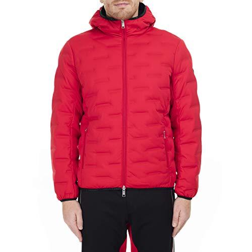 Armani Exchange A X Herren Zip Up Down Jacket with Hood Jacke, rot, Klein