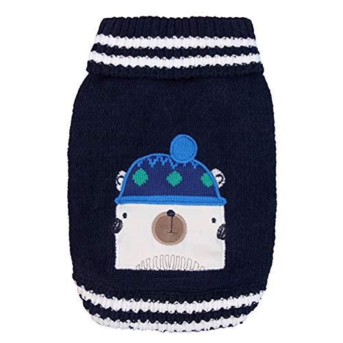 XPC-huisdieren kleding huisdier klassieke kabel trui hond trui stijlvolle coltrui ontwerp warm en comfortabel