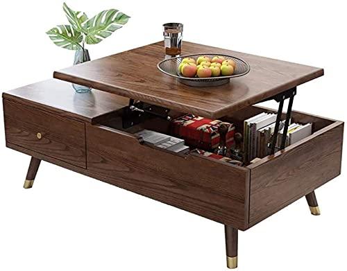 Konvertibelt soffbord till matbordet, Multifunktionellt lyftbordsbord Slät yta Lyft upp soffbord, Dold förvaring Vardagsrum Hemfri lyft Stark