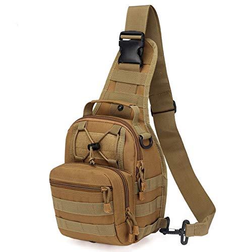 ICEIVY Crossbody Sling Bag Rucksack Herren Tasche, Umhängetasche Schultertasche Taktische Sling Schulterrucksack Chest Bag Pack Daypacks mit Einem Gurt Sling für Schule,Reise,Wandern,Trekking