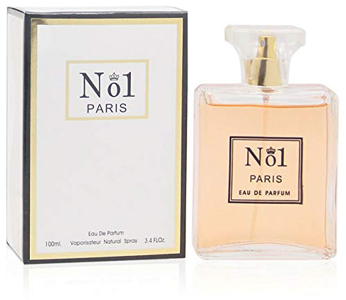 NO.1 PARIS, Eau de Parfum Spray for Women, Perfect Gift, Elegant, Daytime & Casual Use, for all Skin Types, a Classic Bottle, 3.4 Fl Oz