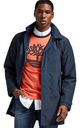 Timberland Men's Windproof Hooded Jacket A1KTS (Large) Navy