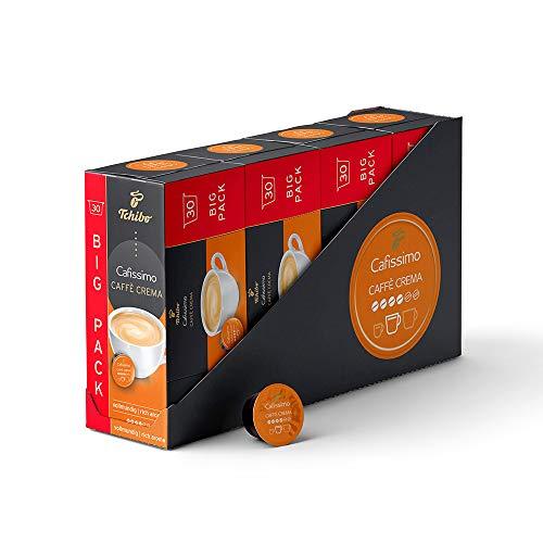 Tchibo Cafissimo Caffè Crema vollmundig Kapseln , 120 Stück (4 x 30 Kapseln)