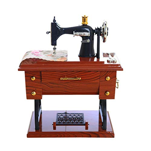 zzJiaCzs Sewing Machine Music Box Desktop Ornament, Musical Birthday Toy Gift Collection