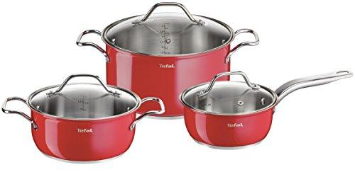 Inox Intuition Colors Set De 6 Pièces Rouge Tous Feux Dont Induction