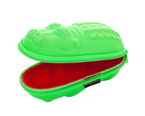 Yoccoes Brillenetuis fur Kinder Grüne Krokodil mit roten Mund