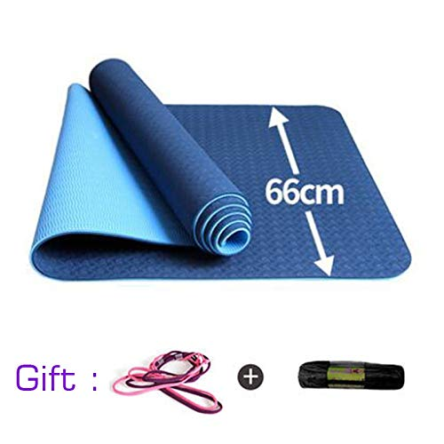 TPE 183 * 66cm 8mm Fitness Yoga-Matte Fitness Anti Slip Gymnastik Yoga-Matten for Pad Übung Körper Schlankheits-Yoga-Matten (Color : Gold)