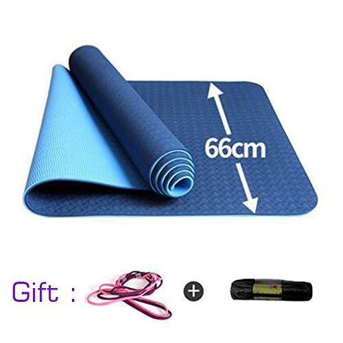 TPE 183 * 66cm 8mm Fitness Yoga-Matte Fitness Anti Slip Gymnastik Yoga-Matten for Pad Übung Körper Schlankheits-Yoga-Matten (Color : Gold)