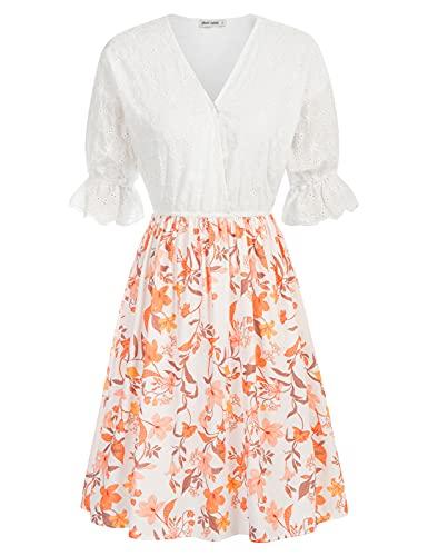 Vestido Floral de Retazos de Algodón para Mujer de Verano para Fiesta CL259S21-03 XXL