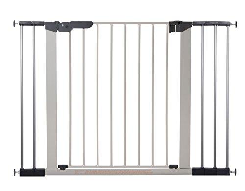 BabyDan Premier Türschutzgitter / Treppenschutzgitter zum Klemmen, 105,5 - 112.8 cm  - hergestellt in Dänemark und vom TÜV GS geprüft, Farbe: Silber / Schwarz