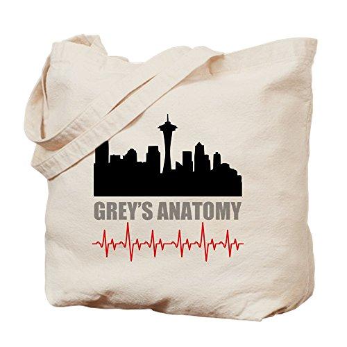 CafePress–Grey 's Anatomy Seattle–Leinwand Natur Tasche, Reinigungstuch Einkaufstasche M khaki