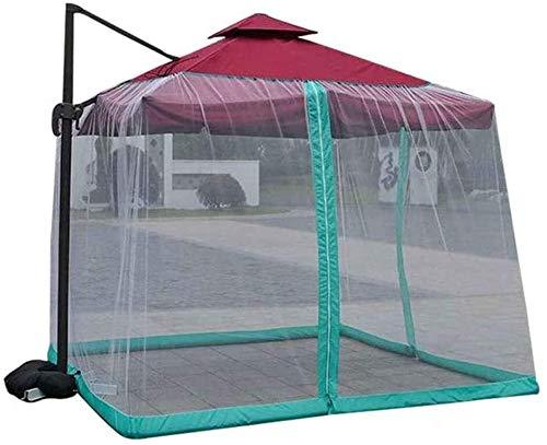 REWD Carpa Jardín Mosquito Cubierta de poliéster Malla al Aire Libre Jardín Pabellón Puerta con Cierre de Cremallera - Excluyendo Paraguas y Base