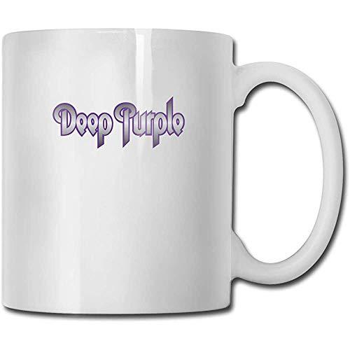 Tazas Deep Purple Design Fashion Coffee Mug Tee Cup Gift para Fans Marido Esposa Novia Blanco