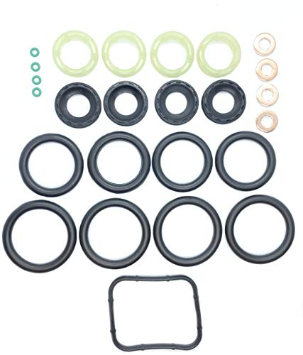 MANIFOLD SEAL + FUEL INJECTOR SEAL + WASHER + ORING SET Past op 1.6 TDCi/HDi