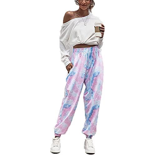Beautiful Women's Four Seasons Home Fashion Leisure Sports Basic Loose Pants