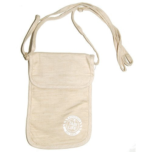 タビライフ 旅貴重品袋 ネックポーチ ベージュ
