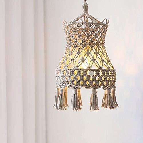 DUNG Handgewebter Lampenschirm aus Makramee, Hängelampendekoration nach Maß, Hängedekoration mit Lampenschirm für den Hochzeitssalon
