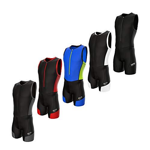 Foxter Active Combinaison de triathlon pour homme, Homme, Triathlon Wetsuit Men, Noir , L