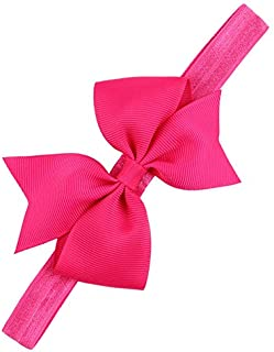 ADS Baby Girl's Headbands/Grosgrain Ribbon/Boutique Bow Bowknot (Magenta)