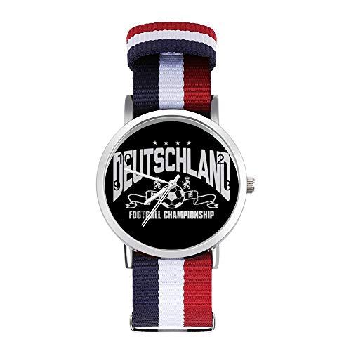 Euro 2016 Football Alemania Deutschland Stars - Reloj de pulsera trenzado con...