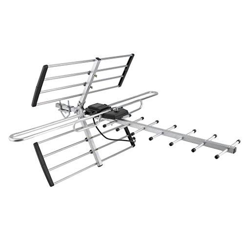OZSTOCK® Digital TV Outdoor Antenna Aerial UHF VHF FM Australian Signal Amplifier Booster