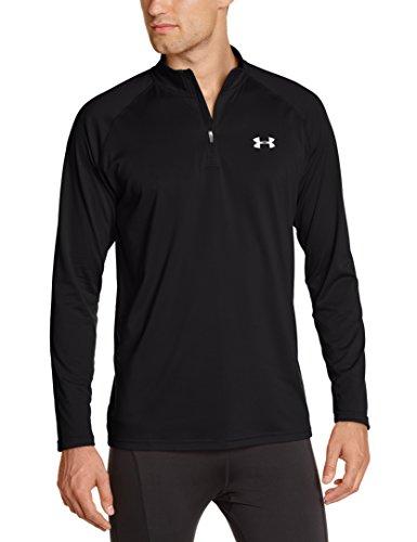Under Armour Herren Fitness Sweatshirt UA Tech 1/4 Zip, Schwarz Black, L, 1242220-003