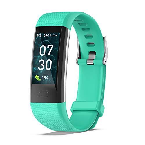joyliveCY Fitness Tracker Kinder, Fitness Armbanduhr mit Pulsmesser Herzfrequenz Schrittzähler Stoppuhr Schlafen Kalorien, IP68 Wasserdicht Schwimmen Telefon SMS SNS Anruf GPS Jungs Mädchen Geschenk
