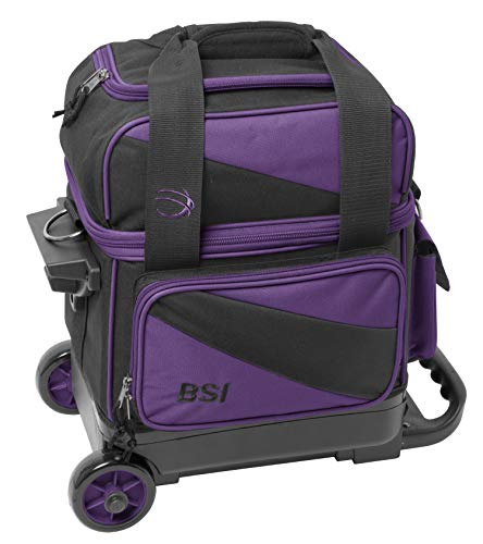 BSI Unisex-Erwachsene Single Roller Bowling Bag Tasche, violett