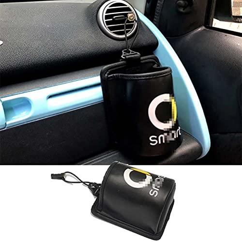 Bolsa de almacenamiento para salida de coche, soporte para teléfono móvil de cuero PU para coche, bolsa de almacenamiento organizadora, caja colgante para Mercedes Smart Fortwo 451