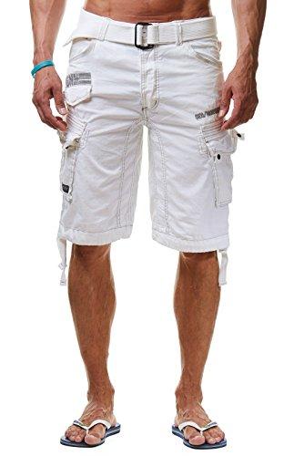 Geographical Norway Bermuda Shorts Pericolo Men, Farbe:White;Hosengröße:S