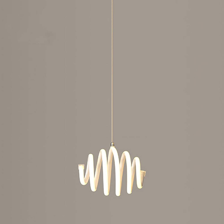 36W Moderne LED Kronleuchter, Mini Einfache Esstisch Spirale ...