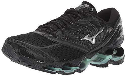 Mizuno Women's Wave Prophecy 8 Running Shoe, Black/Silver, 11 B US