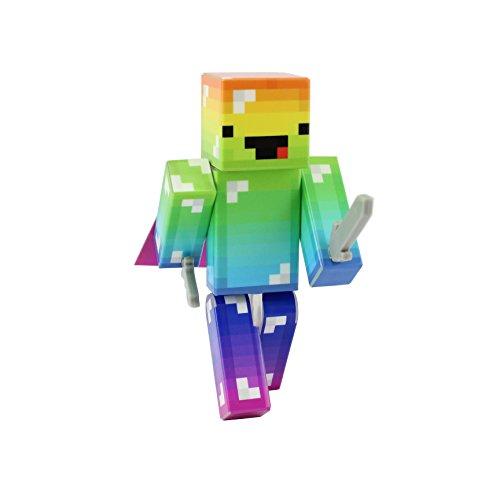 EnderToys Derpy Rainbow Guy Action Figure Toy, 4 Inch Custom Series Figurines