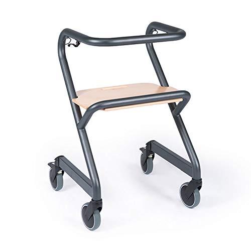 Indoor Rollator für die Wohnung, dreht auf der Stelle, rundherum greifbar, anthrazit (L)