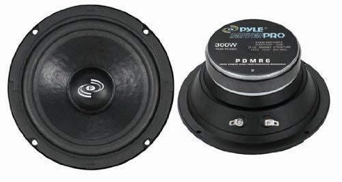6.5' Car Audio Speaker Midrange - 300 Watt High Power Sealed Back Mid Range Speakers System w/ Paper Coating Cone, 200-5 kHz, 93 dB, 8Ohm, 30 oz Magnet,1 inch KAPTON Voice Coil - Pyle PDMR6