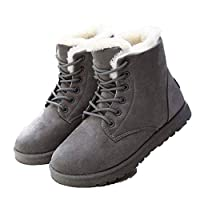 [SUDISSKM] マーティンブーツ ハイカット 冬用 レースアップ スノーブーツ ムートンブーツ 防寒靴 カジュアル 綿靴 暖かく保つ ふわふわ モコモコ 雪靴 ボア付き 裏起毛 雪対応 ファッション